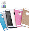 High Quality Sparkled Finish Metal Back Cover Case with Diamond And Touch Pen for iPhone 6 Plus(Assorted Colors)