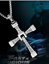 Муж. Ожерелья с подвесками Циркон Имитация Алмазный Сплав Крестообразной формы Мода Серебряный БижутерияСвадьба Для вечеринок