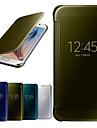 Pour Samsung Galaxy Coque Avec Ouverture Miroir Clapet Transparente Coque Coque Intégrale Coque Couleur Pleine Polycarbonate pour Samsung