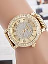 yoonheel 아가씨들 패션 시계 캐쥬얼 시계 모조 다이아몬드 시계 모조 다이아몬드 석영 메탈 밴드 골드