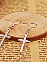 Earring Cross Drop Earrings Jewelry Women Daily / Casual Alloy 1set Silver