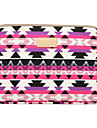 """Sleeve for Macbook Pro 13.3"""" Geometric Pattern Canvas Material Geometric Figure Laptop Cover Sleeves Shakeproof Case"""