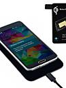 qi carregador sem fio padrão + tag receptor para Samsung Galaxy i9600 s5 g900 quentes