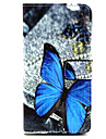Dew Butterfly  Pattern PU Leather Case with Stand and Card Slot for Samsung Galaxy A3