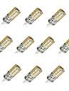 10pcs Dimmable G4 1.5W 24x2835SMD 100LM 3000K/6000K Warm White/Cool White Light LED Corn Bulb(DC12V)