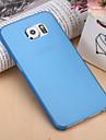 Pour Samsung Galaxy Coque Ultrafine Coque Coque Arrière Coque Couleur Pleine Polycarbonate pour Samsung S6