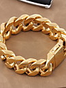 Mulheres Homens Casal Pulseiras em Correntes e Ligações Clássico Jóias de Luxo Ouro Aço Titânio Chapeado Dourado Jóias Jóias Para