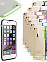 Para Capinha iPhone 6 / Capinha iPhone 6 Plus Luz de LED / Ultra-Fina / Transparente Capinha Capa Traseira Capinha Cor Única Rígida PC