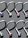 Body Piercing Jewellery Fashion Stainless Steel Crystal Nose Ring Body Jewelry Piercing(Random Color) Christmas Gifts