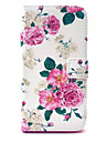 For Wiko Case Wallet / Card Holder / with Stand / Flip / Pattern Case Full Body Case Flower Hard PU Leather Wiko