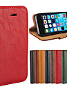 Bark Grain Genuine Leather Full Body Cover with Stand and Case for iPhone 5/5S
