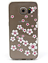 Para Samsung Galaxy Capinhas Case Tampa Com Strass Transparente Capa Traseira Capinha Flor PUT para Samsung S6