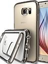 GYM Luxury Clear Crystal TPU Frame Acrylic Back Case for Samsung Galaxy S6 Edge G9250(Assorted Color)