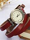 Mulheres Relógio de Moda Relógio de Pulso Bracele Relógio Quartzo Couro Banda Vintage Boêmio Azul Vermelho MarromAmarelo Marron Vermelho
