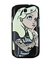 White Hair Girl Pattern PC Hard Back Cover Case for Samsung S3 I9300