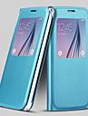 écran cuir PU visible cas complet du corps pour Samsung Galaxy S6 (couleurs assorties)