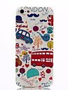Cartoon London Pattern Ultrathin TPU Soft Back Cover Case for iPhone 5/5S