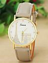 여성의 패션 스타일 제네바 가죽 밴드 석영 아날로그 손목 시계 (모듬 색상)