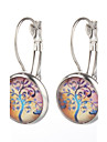 Vilam® Life Wisedom Lucky Tree Silver Earring For Women Glass Cabachon Bezel Brincos Perola Art Photo Earrings