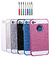 High Quality Sparkled Finish Metal Back Cover Case with Diamond And Touch Pen for iPhone 4/4S