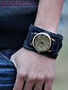 남성 빈티지 가죽 스트랩 시계