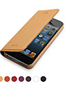 GGMM ® Case de cuir véritable Clamshell Full Body pour IPhone5/5s (couleurs assorties)