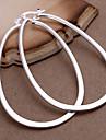 Boucles d'oreille gitane Mode Bijoux Fantaisie Cuivre Plaqué argent Forme Géométrique Argent Bijoux Pour Soirée Quotidien Décontracté 2pcs