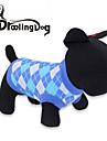 Gatos / Cães Camiseta Vermelho / Azul Roupas para Cães Primavera/Outono Xadrez