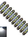 JIAWEN® 10pcs Festoon 36mm 0.5W 3x5050SMD 60LM Cool White Reading Light LED Car Light (DC 12V)