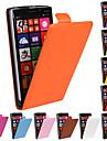 노키아 루미아에 대한 단색 정품 우레탄 소 가죽 자기 플립 지갑 케이스 (930) n930 (모듬 색상)