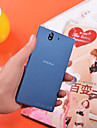 For Sony Case Ultra-thin / Transparent Case Back Cover Case Solid Color Hard PC Sony Xperia Z