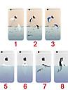 Pour Coque iPhone 5 Etuis coque Ultrafine Transparente Motif Coque Arrière Coque Animal Flexible PUT pour iPhone SE/5s iPhone 5