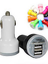 GYM Colorful USB Car Charger for iPhone 4/5/6/6 Plus and iPad(Assorted Color)