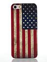 Для Кейс для iPhone 5 Матовое / С узором Кейс для Задняя крышка Кейс для Флаг Твердый PC iPhone SE/5s/5