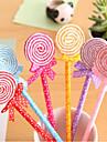 Красочные Lollipop формы шариковые ручки (Random Color)