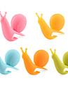 매력& 귀여운 달팽이 모양 실리콘 티백 홀더 (여러 가지 빛깔의) (5PCS / 팩)