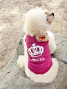 Кошка Собака Футболка Одежда для собак Мода Тиары и короны Розовый