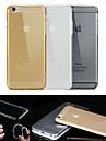 grande d alta qualidade TPU caso claro suave de volta para o iphone 6s / 6 mais (cores sortidas)