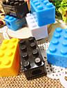Пластиковые Building Block Pattern точилка для карандашей (случайный цвет)