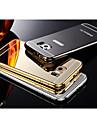 Dois-em-um kx caso difícil escudo estrutura de metal da marca acrílico de metal para Samsung Galaxy S6