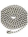 Ожерелье Ожерелья-цепочки Бижутерия Повседневные / Спорт Модно Титановая сталь Серебряный 1шт Подарок