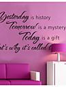Вчера история украшение дома наклейки для стен zooyoo8138 декоративные съемные виниловые наклейки стены