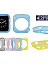TPU manchon protecteur coloré pour montre de pomme 42 mm (couleurs assorties)