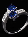 Statement Rings Zircon Cubic Zirconia Gem Simulated Diamond Fashion Blue Jewelry Wedding Party Daily Casual Sports 1pc