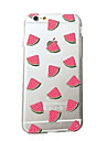 iPhone 7 Plus Small Fresh Watermelon Pattern Slim Acrylic and TPU Combo Phone Case for iPhone 6s 6 Plus