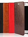 Pour Samsung Galaxy Coque Portefeuille / Porte Carte / Avec Support / Clapet Coque Coque Intégrale Coque Couleur Pleine Vrai Cuir Samsung