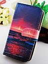 Pour Samsung Galaxy Coque Etuis coque Portefeuille Porte Carte Avec Support Clapet Coque Intégrale Coque Paysage Cuir PU pour Samsung S2
