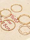 미디 반지 모조 다이아몬드 합금 패션 골든 보석류 일상 캐쥬얼 1 세트