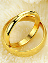 Gold Plated Ring Couple Rings Wedding/Party/Daily/Casual