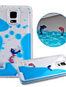 KARZEA™Unique Design Fluid Liquid Flowing Dolphin Crystal Clear PC Hard Case Cover for Samsung S5 i9600